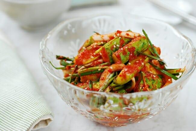 Cucumber kimchi (oi kimchi)