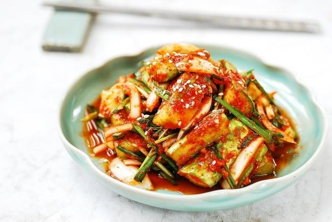 DSC 0108 3 e1562125578144 - Cucumber Kimchi (Oi Kimchi)