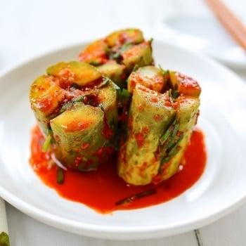 DSC 1476 2 350x350 - Oi Sobagi (Stuffed Cucumber Kimchi)