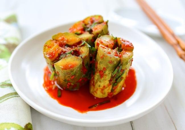 DSC 1476 2 e1562426083359 - Oi Sobagi (Stuffed Cucumber Kimchi)