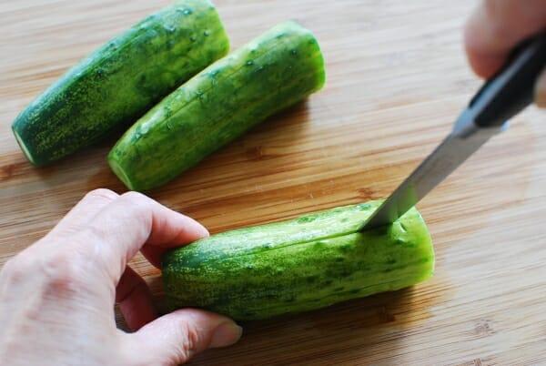 DSC 1741 600x402 - Oi Sobagi (Stuffed Cucumber Kimchi)