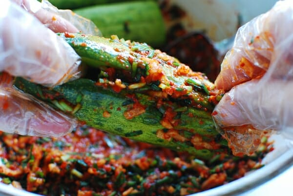 DSC 1751 600x402 - Oi Sobagi (Stuffed Cucumber Kimchi)