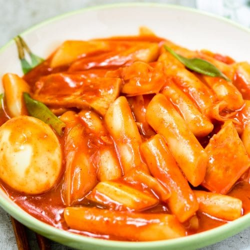 Red spicy Korean rice cake