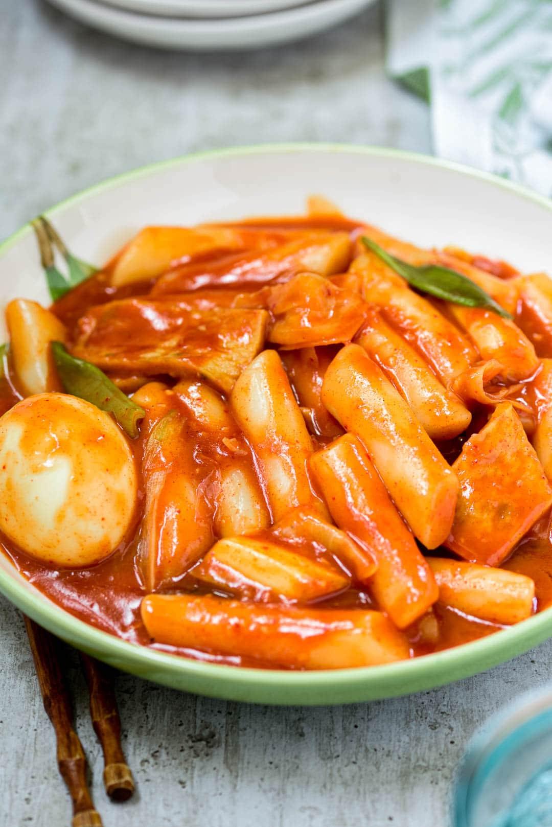 DSC3132 3 3 - Tteokbokki (Spicy Stir-fried Rice Cakes)