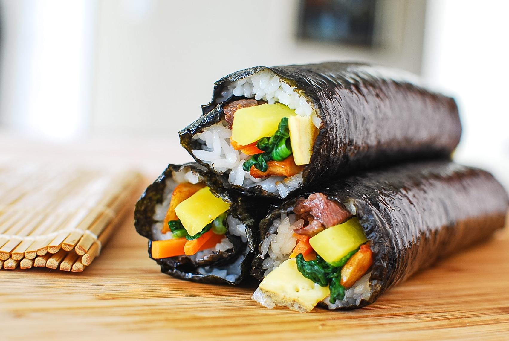 DSC 1648 - Gimbap (Korean Seaweed Rice Rolls)