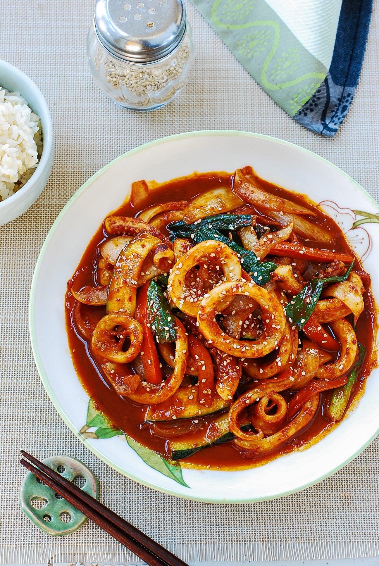 DSC 0024 - Ojingeo Bokkeum (Korean Spicy Stir-fried Squid)