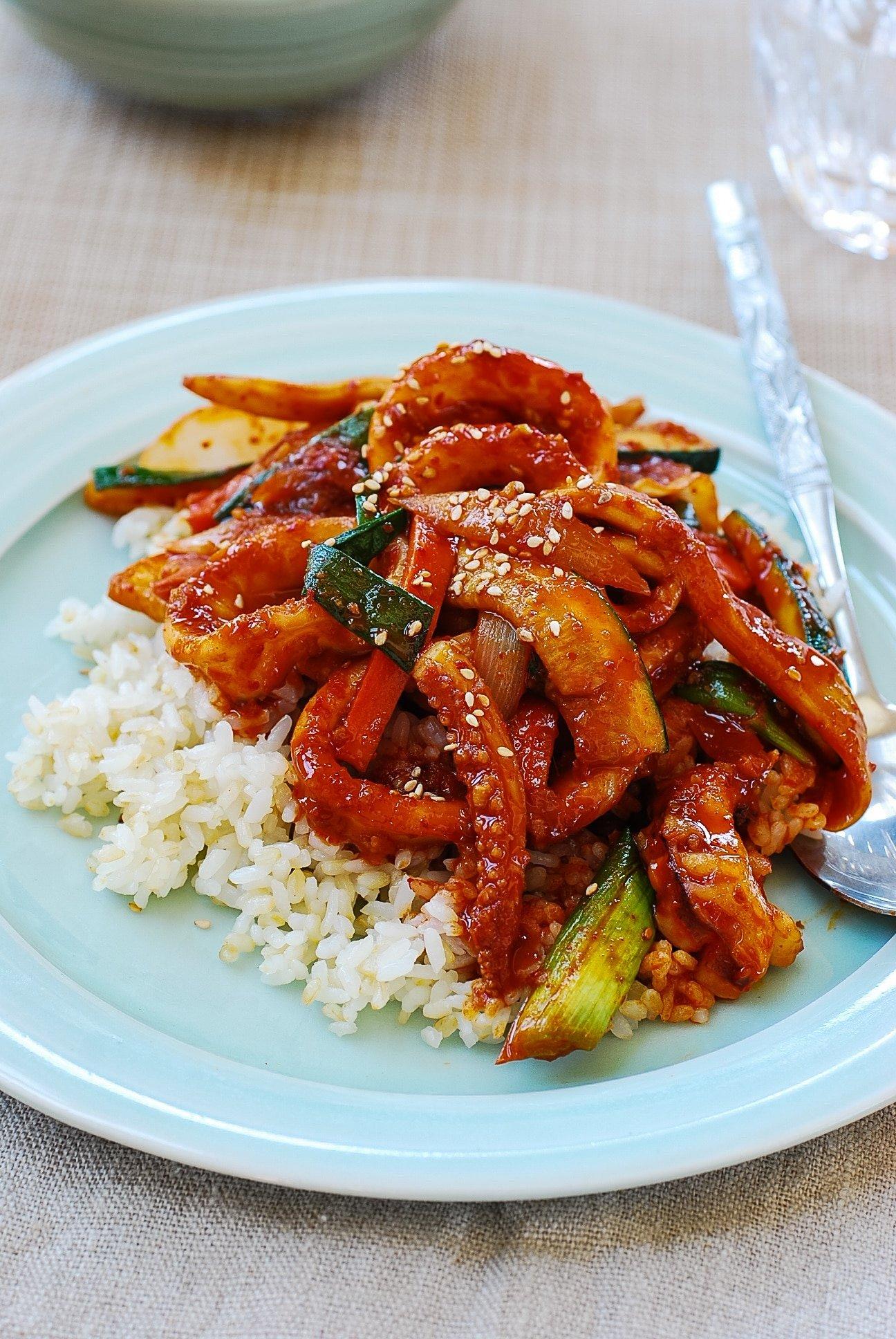 DSC 0047 - Ojingeo Bokkeum (Korean Spicy Stir-fried Squid)