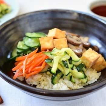 DSC 2284 350x350 - Tofu Bibimbap (Vegan Bibimbap)