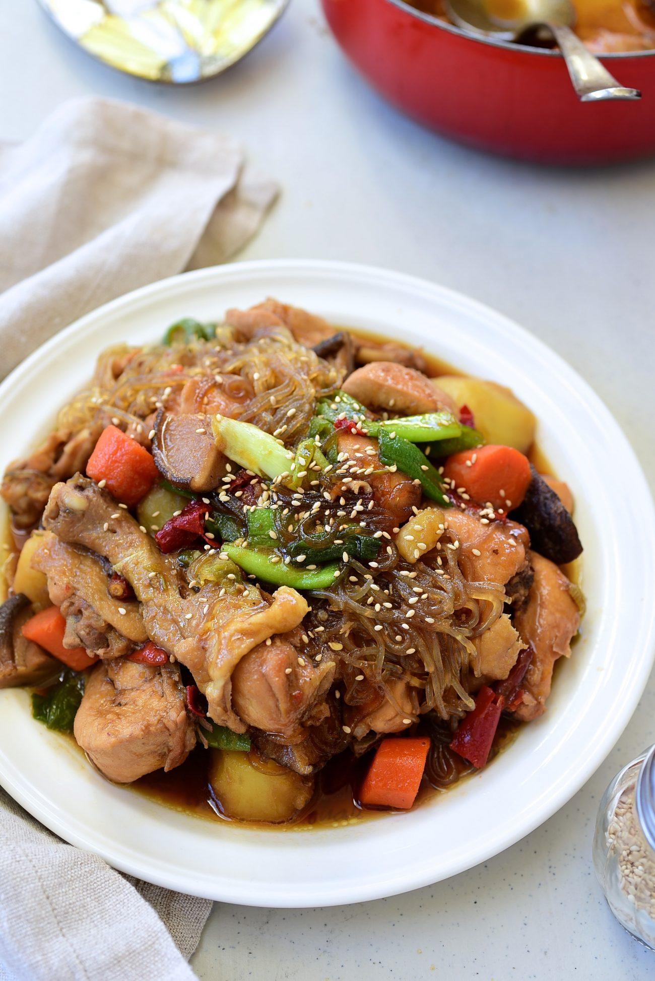 DSC 3285 e1613667285186 - Jjimdak (Korean Braised chicken)