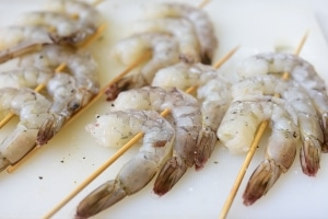 Shrimp skewers for grilling