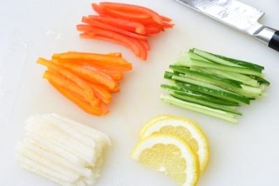 vegetables for shrimp salad