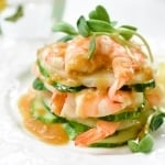 Shrimp Salad with Hot Mustard Dressing (Saewu Naengchae)