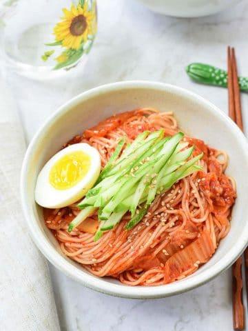DSC 4873 3 e1615133620457 360x480 - Kimchi Bibim Guksu (Spicy Cold Noodles with Kimchi)