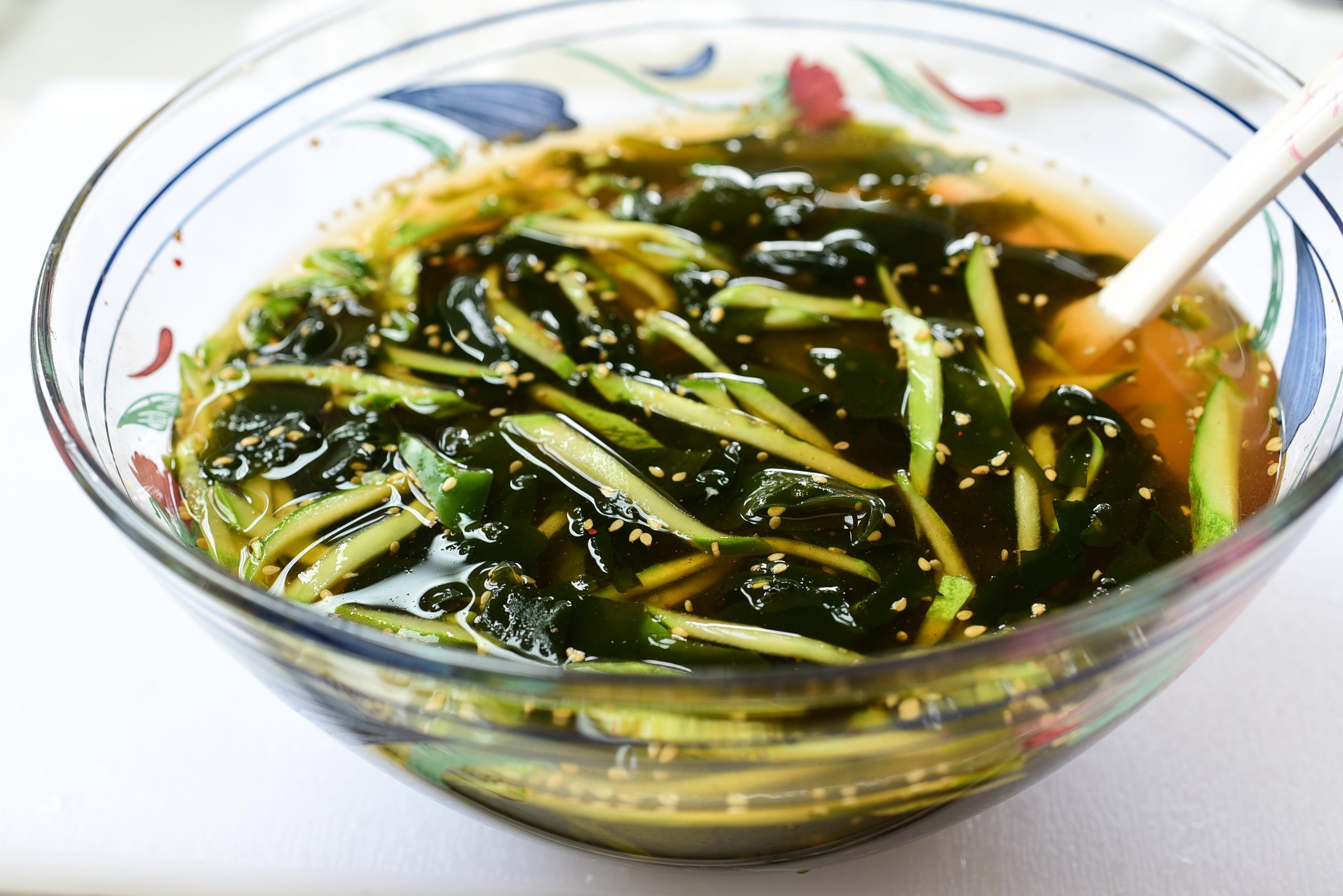 DSC 4925 - Oi Naengguk (Chilled Cucumber Soup)