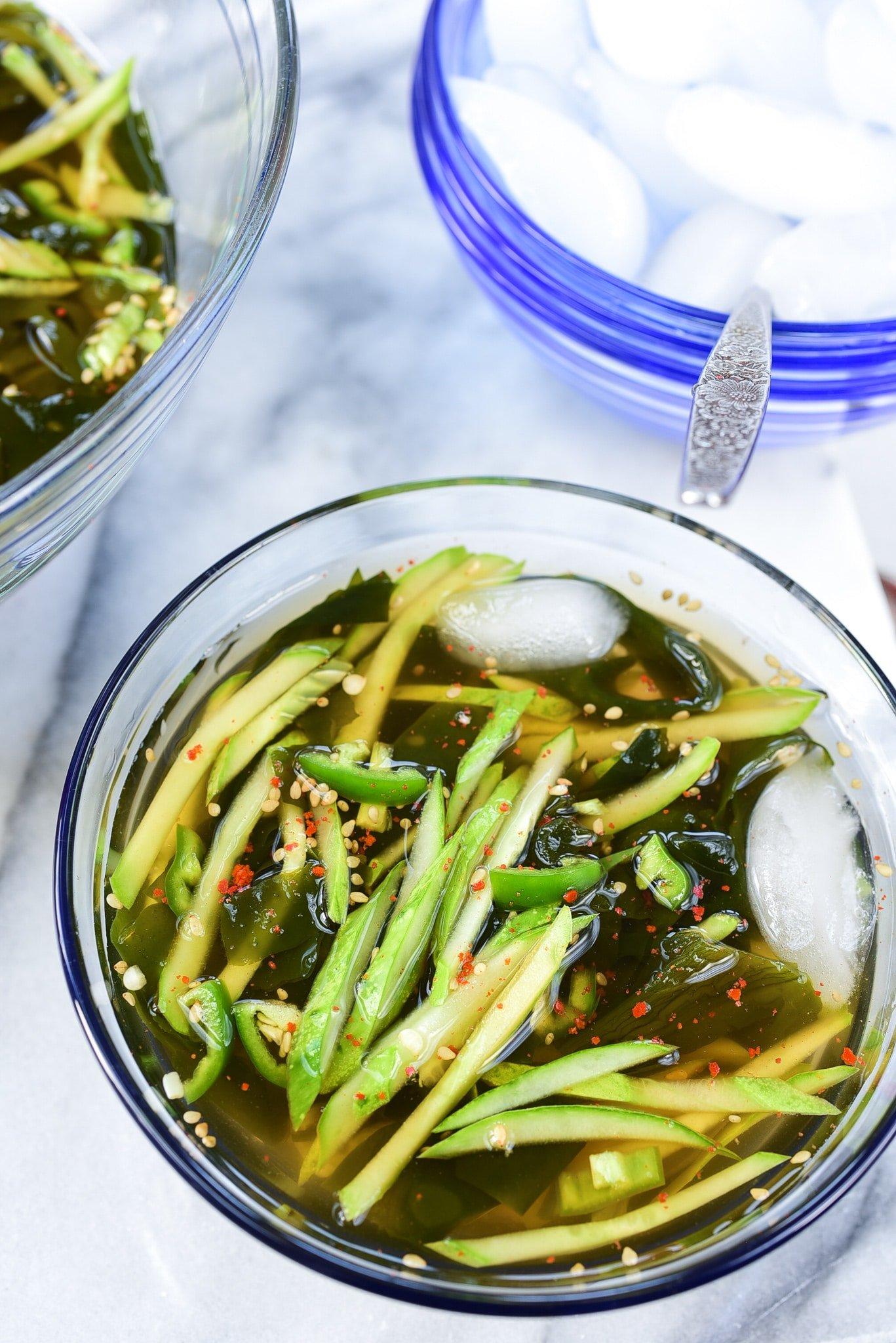 DSC 4953 2 - Oi Naengguk (Chilled Cucumber Soup)