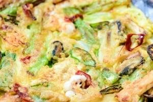 Korean seafood pancake
