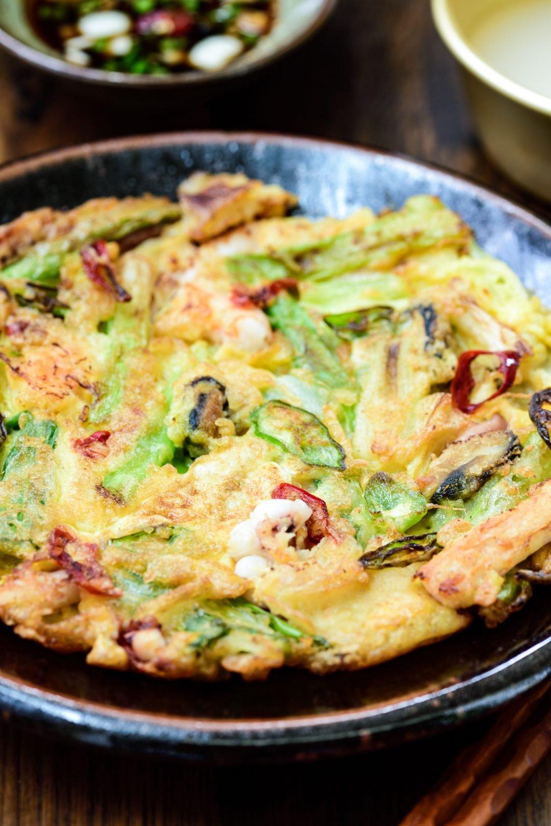 DSC3273 e1613669537769 - Haemul Pajeon (Seafood Scallion Pancake)