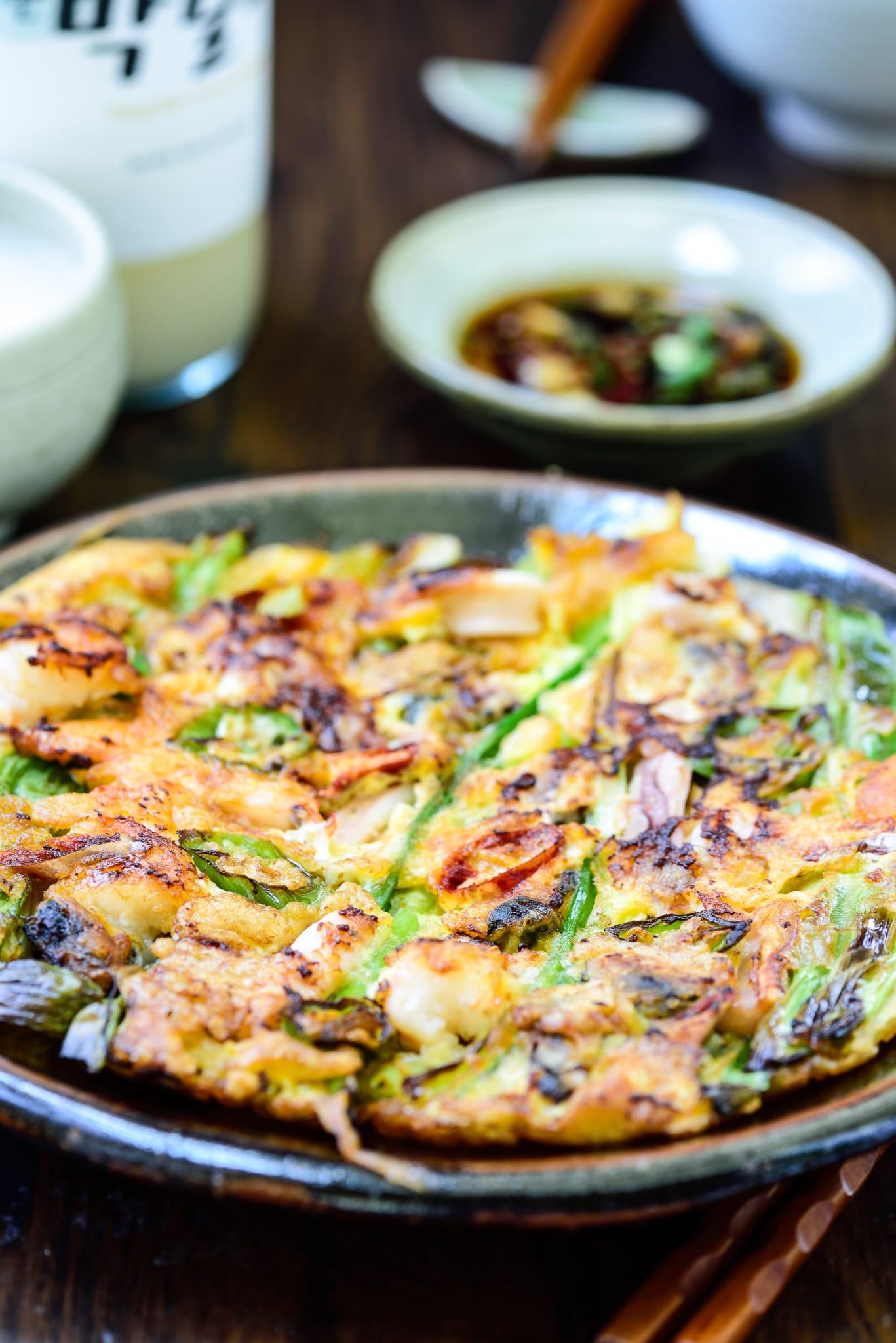 DSC3431 4 - Haemul Pajeon (Seafood Scallion Pancake)