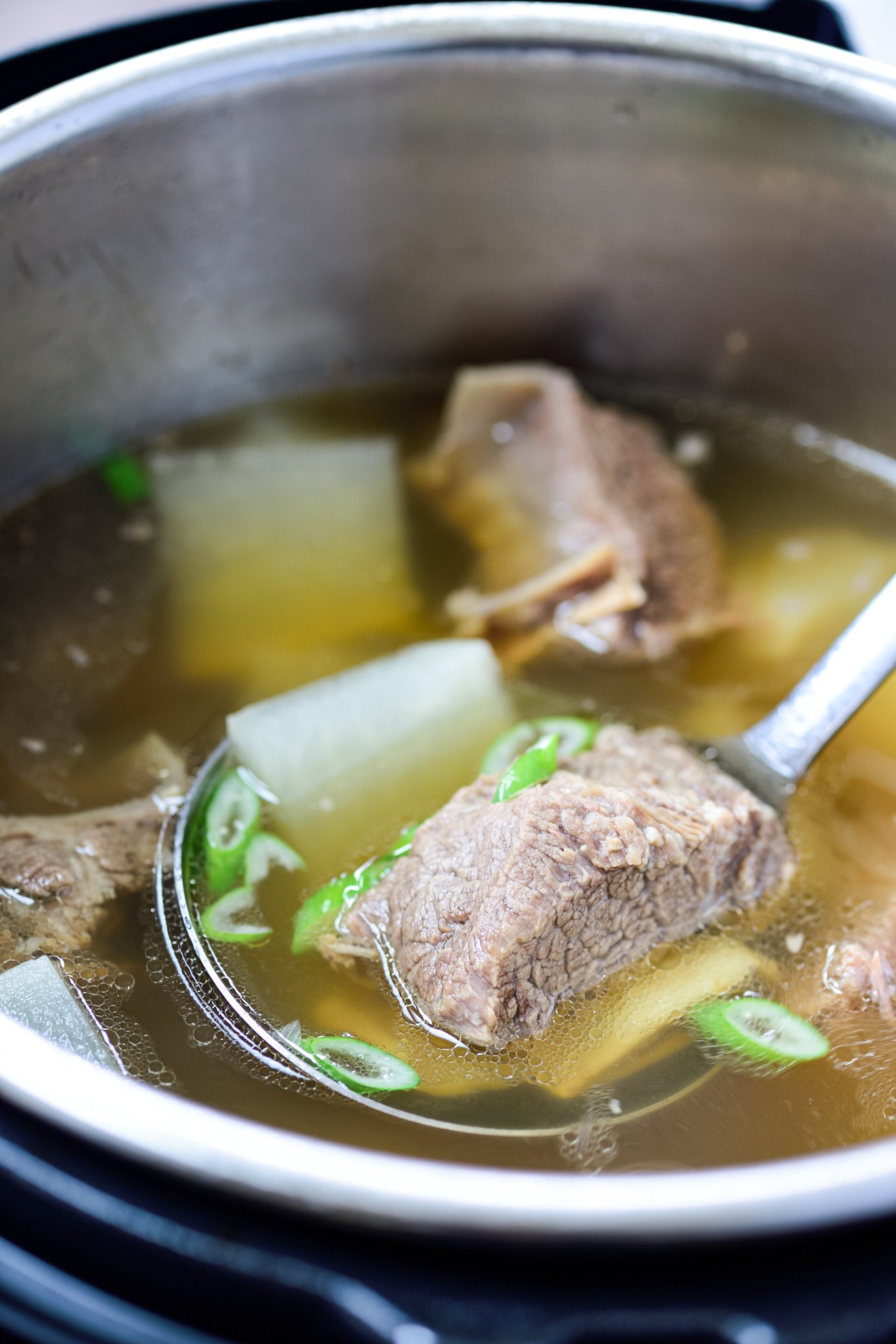Instant Pot beef short rib soup recipe