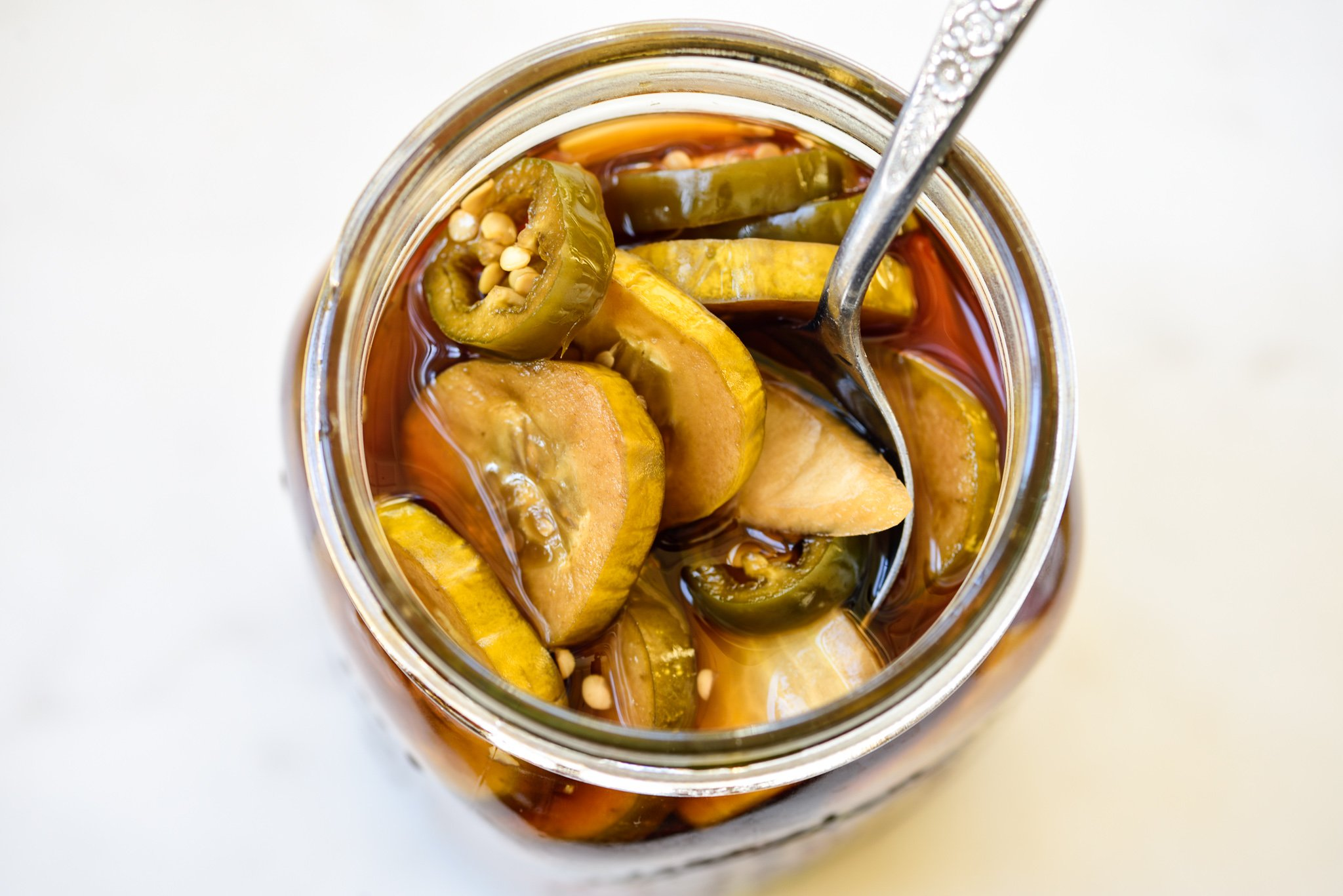 Cucumber pickles in soy sauce