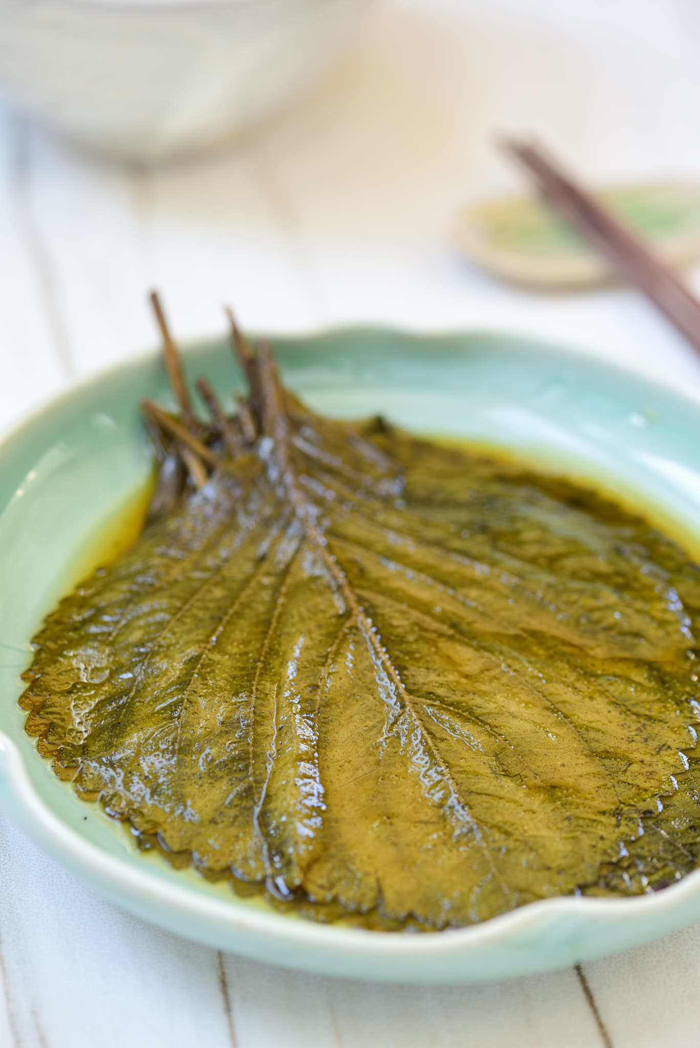 Korean pickled perilla leaves