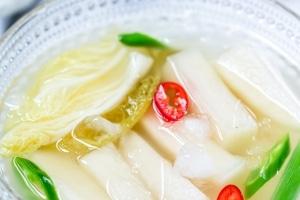 Radish water kimchi recipe
