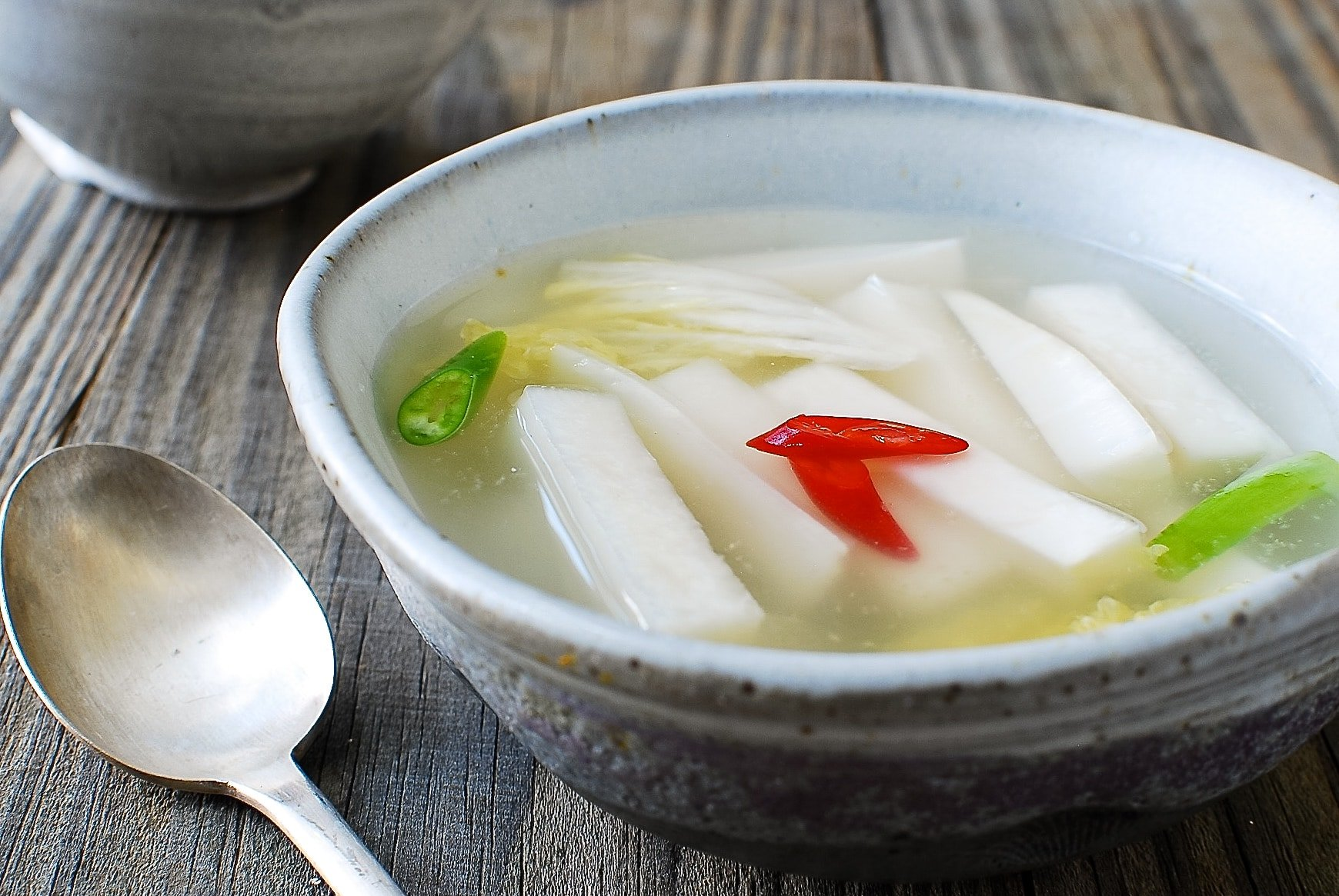 Korean radish water kimchi