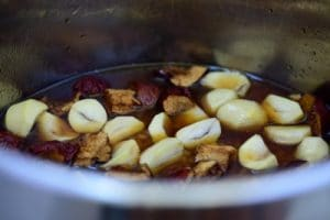 Sweet rice with chestnuts and jujubes ipe