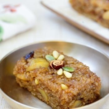 DSC4495 2 350x350 - Yaksik (Sweet Rice with Dried Fruits and Nuts)