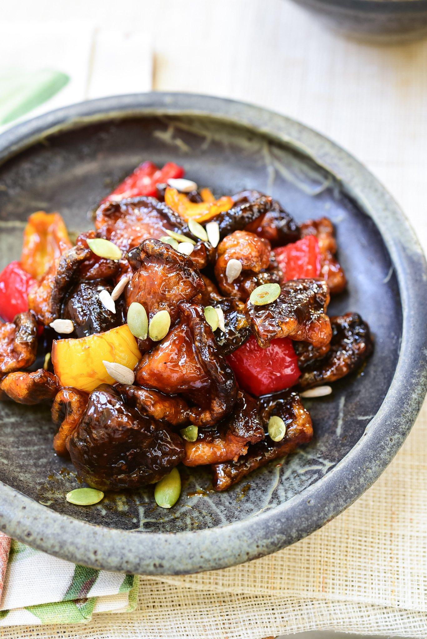 DSC 3181 - Beoseot Gangjeong (Sweet Crispy Mushrooms)