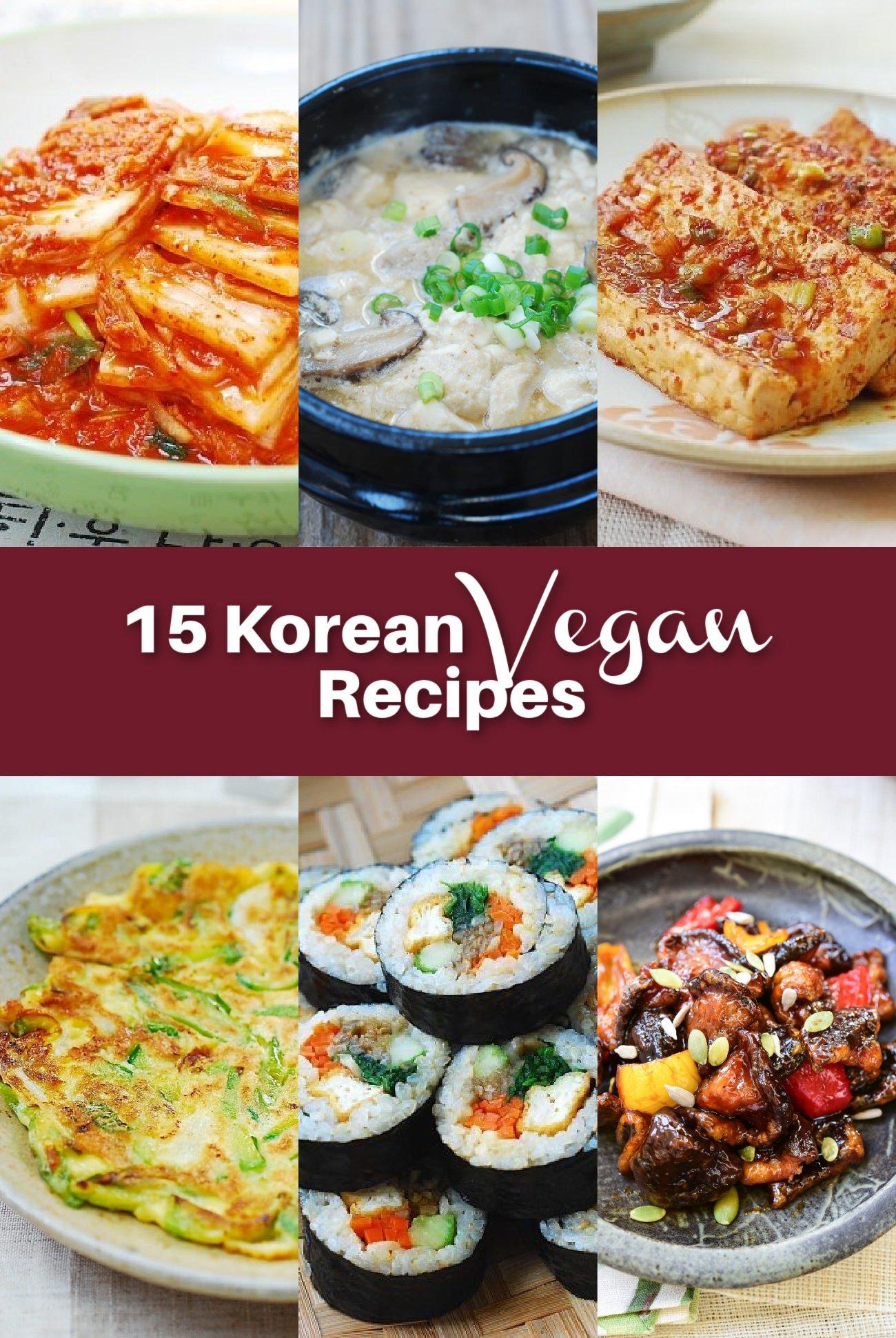 15 Vegan Recipes - 15 Korean Vegan Recipes