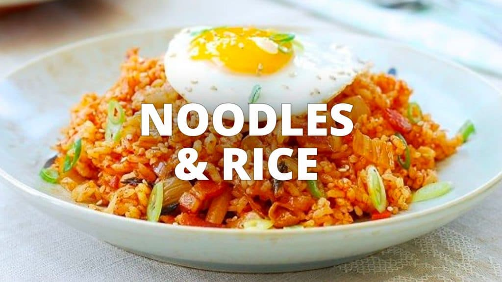 Noodles and rice category banner
