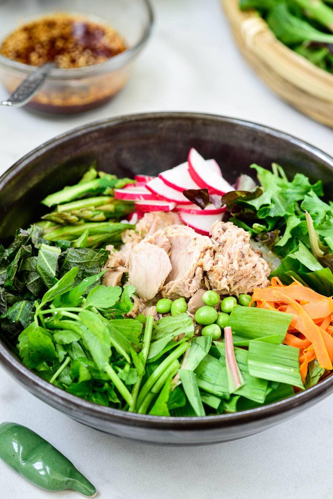 DSC9306 2 - Tuna Bibimbap with Spring Vegetables