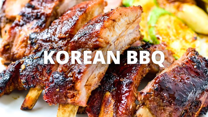 Korean BBQ category banner