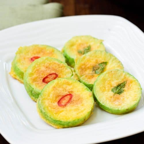 DSC1000 2 500x500 - Hobak Jeon (Pan-fried Zucchini in Egg Batter)