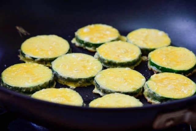 DSC3588 3 640x427 - Hobak Jeon (Pan-fried Zucchini in Egg Batter)