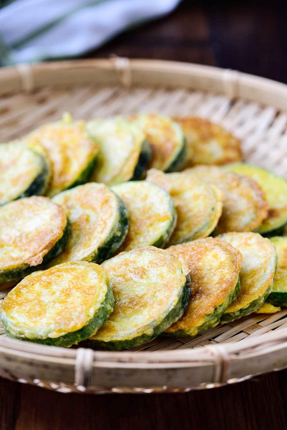 DSC3614 - Hobak Jeon (Pan-fried Zucchini in Egg Batter)