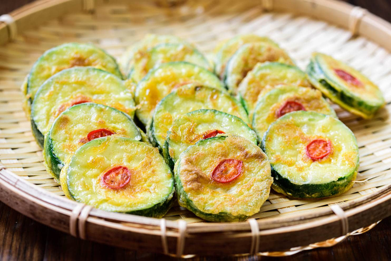 DSC3764 - Hobak Jeon (Pan-fried Zucchini in Egg Batter)
